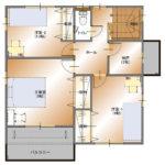 甲府市上今井町B29号棟 建売住宅 平面図2F