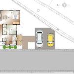 甲斐市龍地B35号棟 建売住宅 配置図