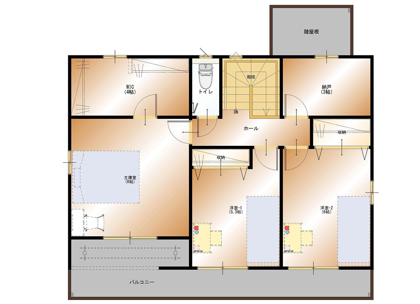 甲斐市下今井E39号棟 建売住宅 平面図2F