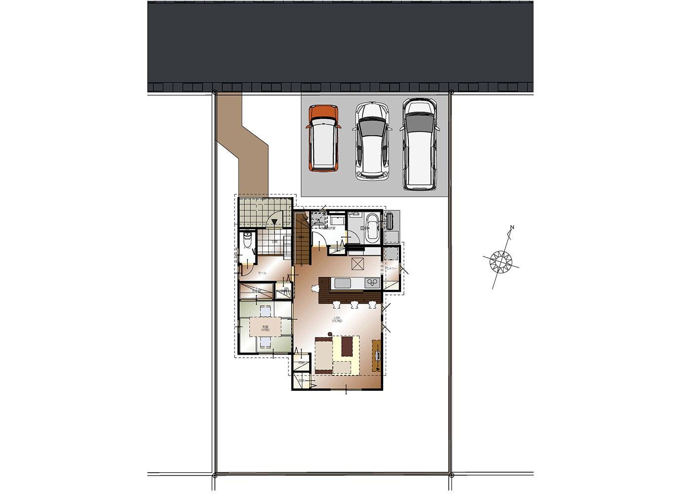 甲府市上今井町B13号棟 建売住宅 配置図