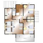 甲府市上今井町B13号棟 建売住宅 平面図2F