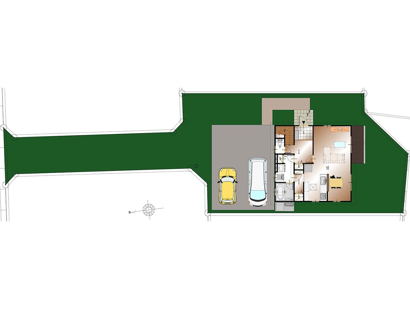 南アルプス市飯野E9号棟 建売住宅 配置図