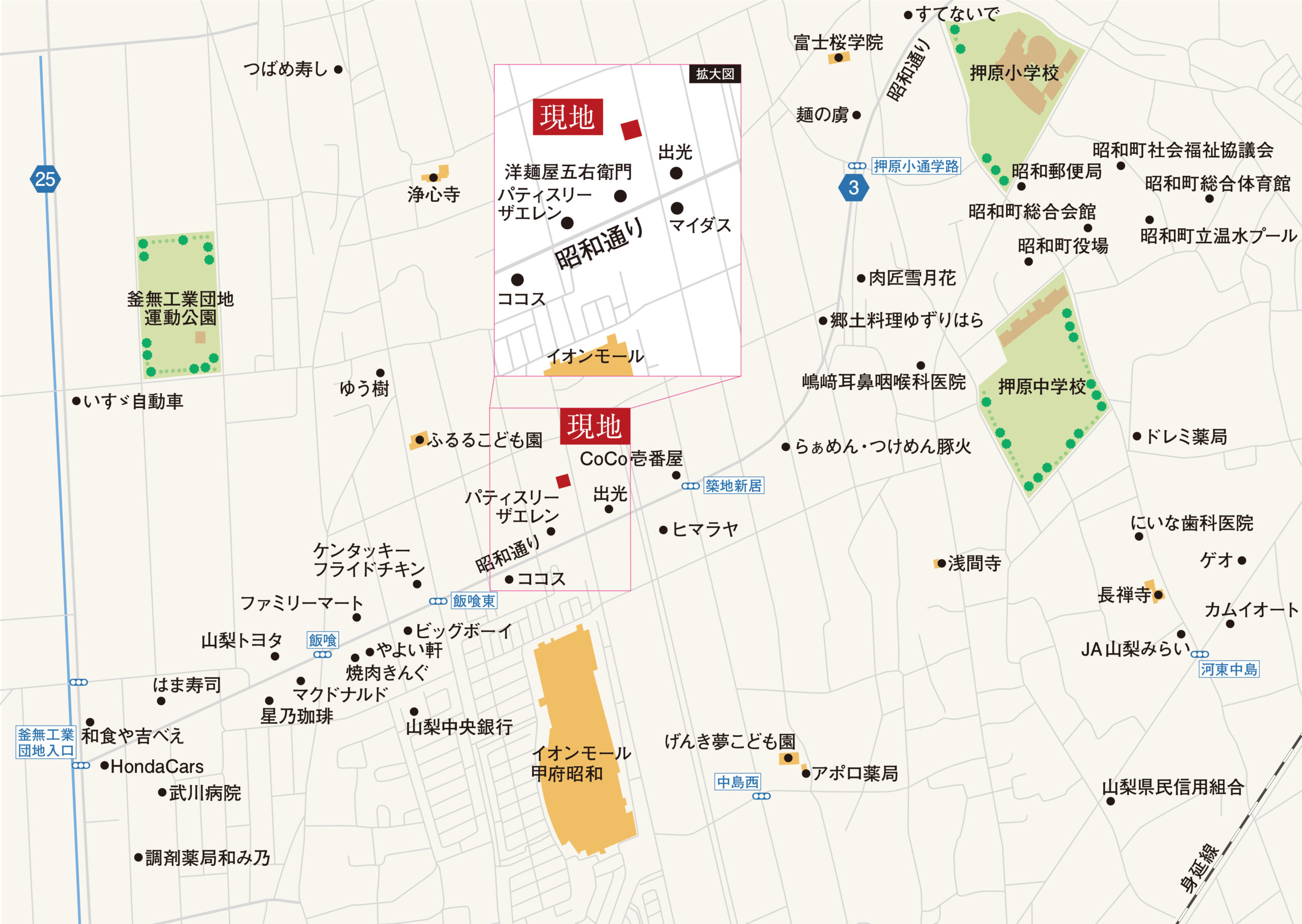 昭和町飯喰B_地図