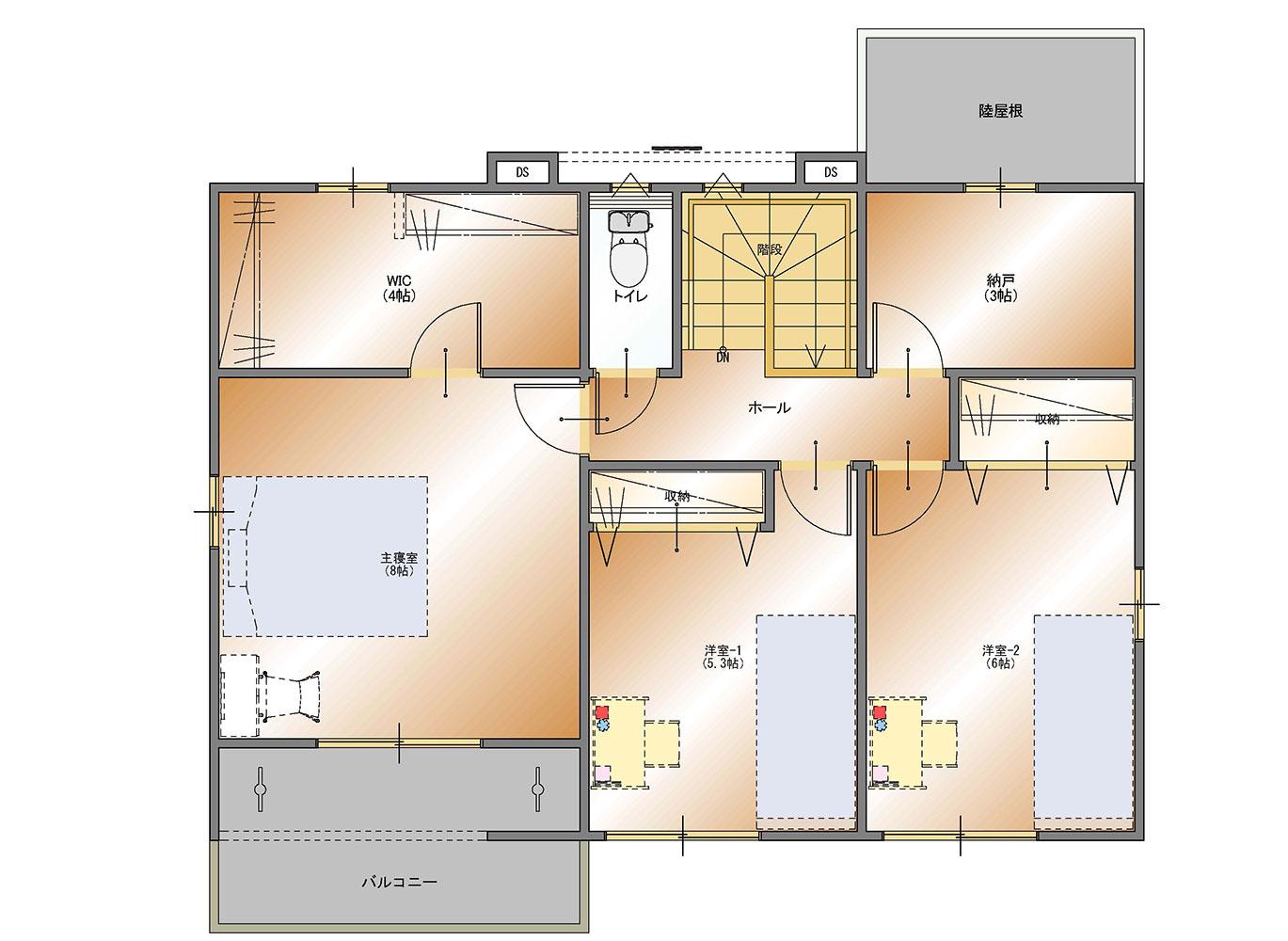 甲府市上今井町B14号棟 建売住宅 平面図2F