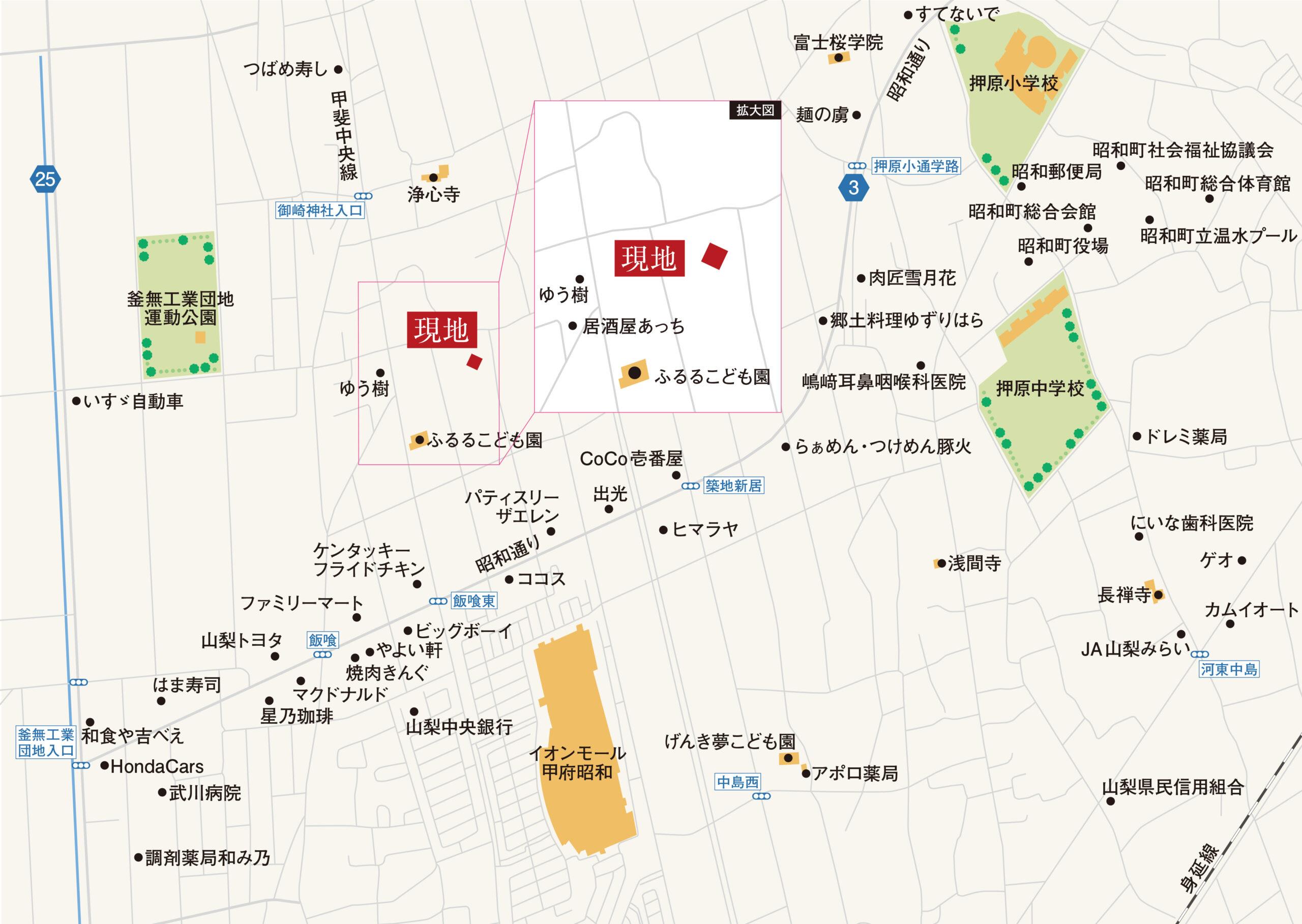 昭和町築地新居_地図