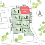 山梨 不動産 南アルプス市小笠原B 5号棟 新築建売住宅 分譲地 区画図