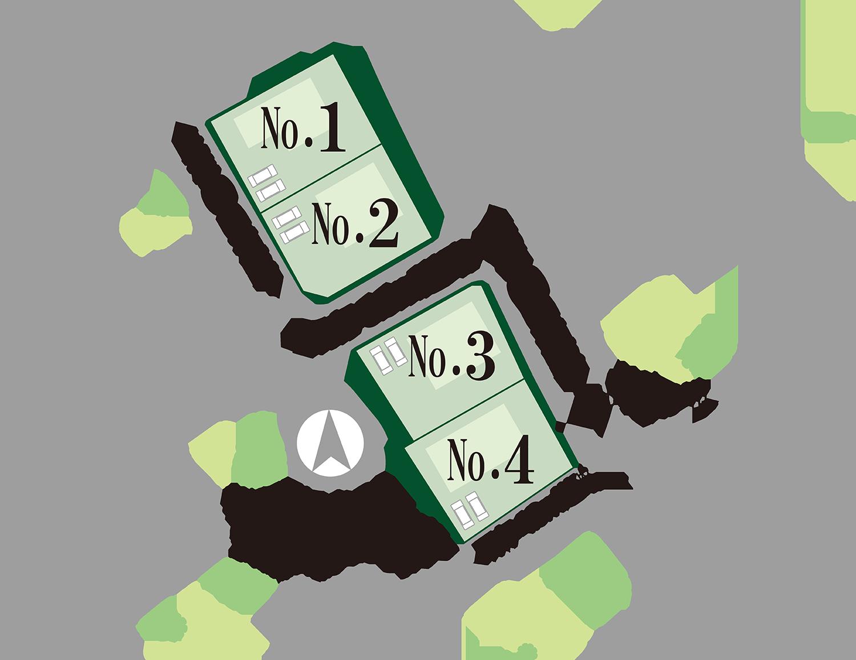 甲斐市西八幡F 分譲地 土地 不動産 区画図