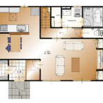 山梨県甲斐市下今井E32号棟 新築建売住宅 1F平面図