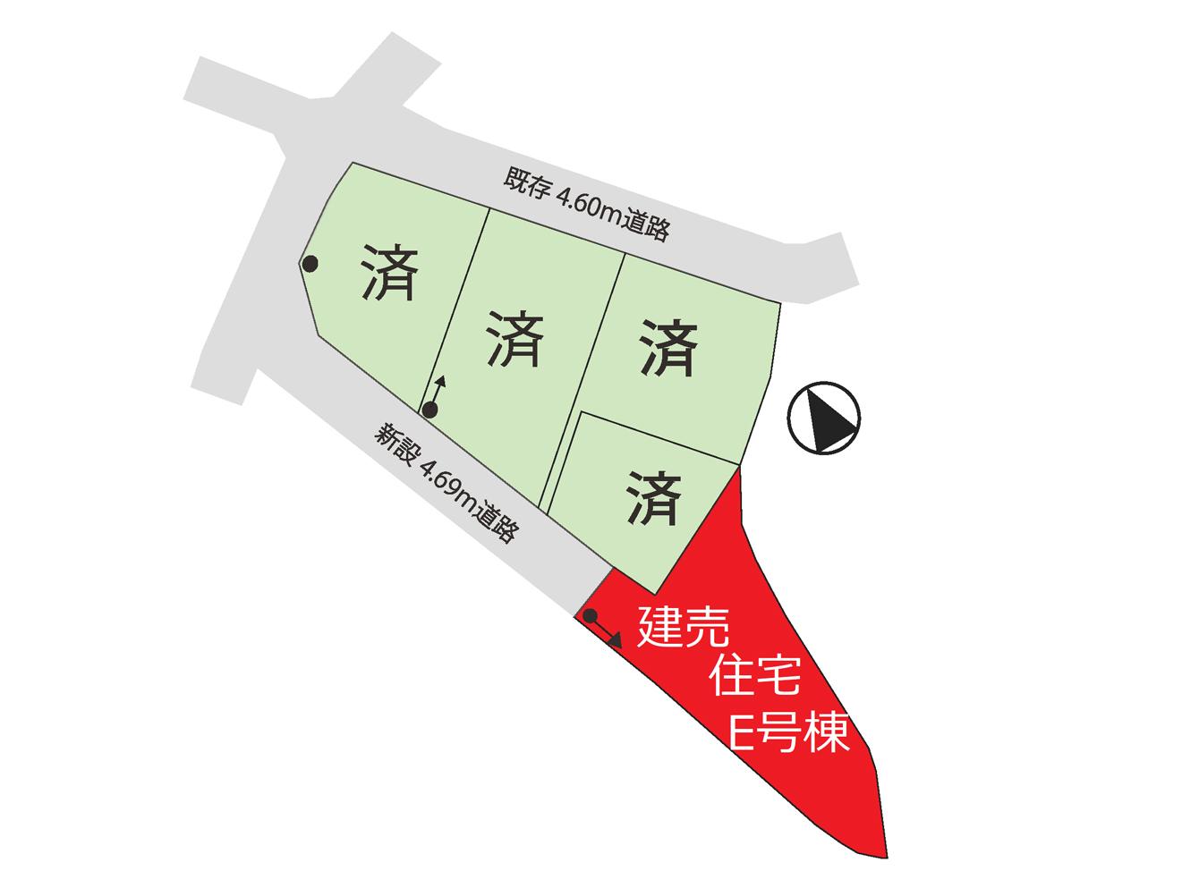 山梨県笛吹市春日居町小松E号棟 新築建売住宅 区画図