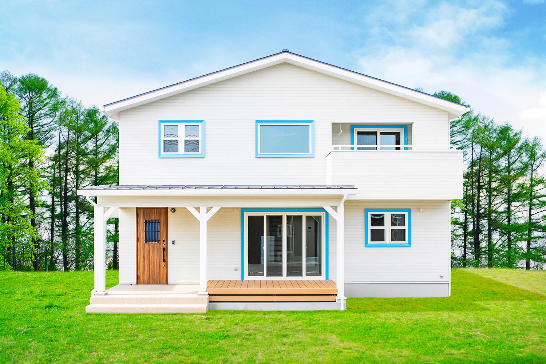 洋風デザインハウス 外観 施工事例