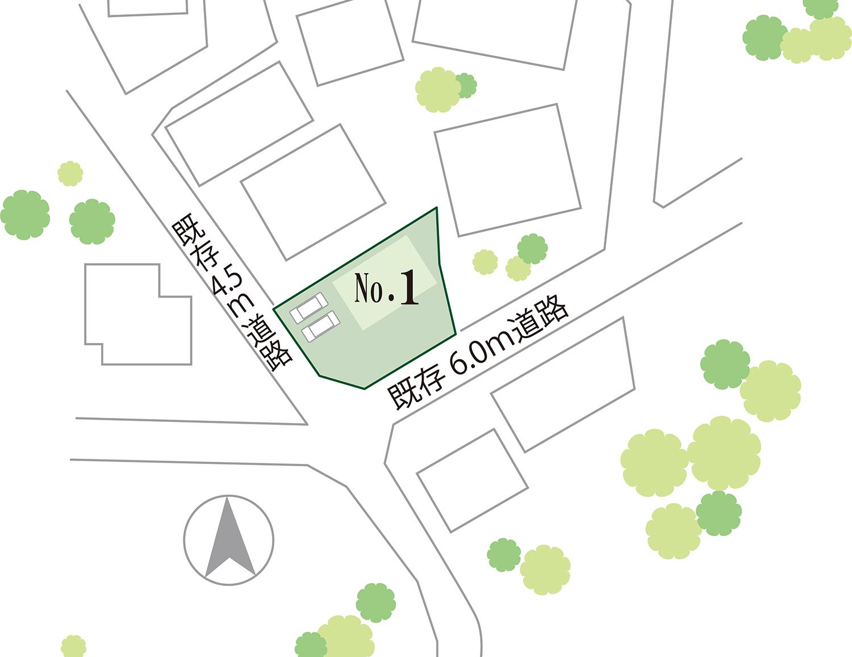 長松寺町 区画図