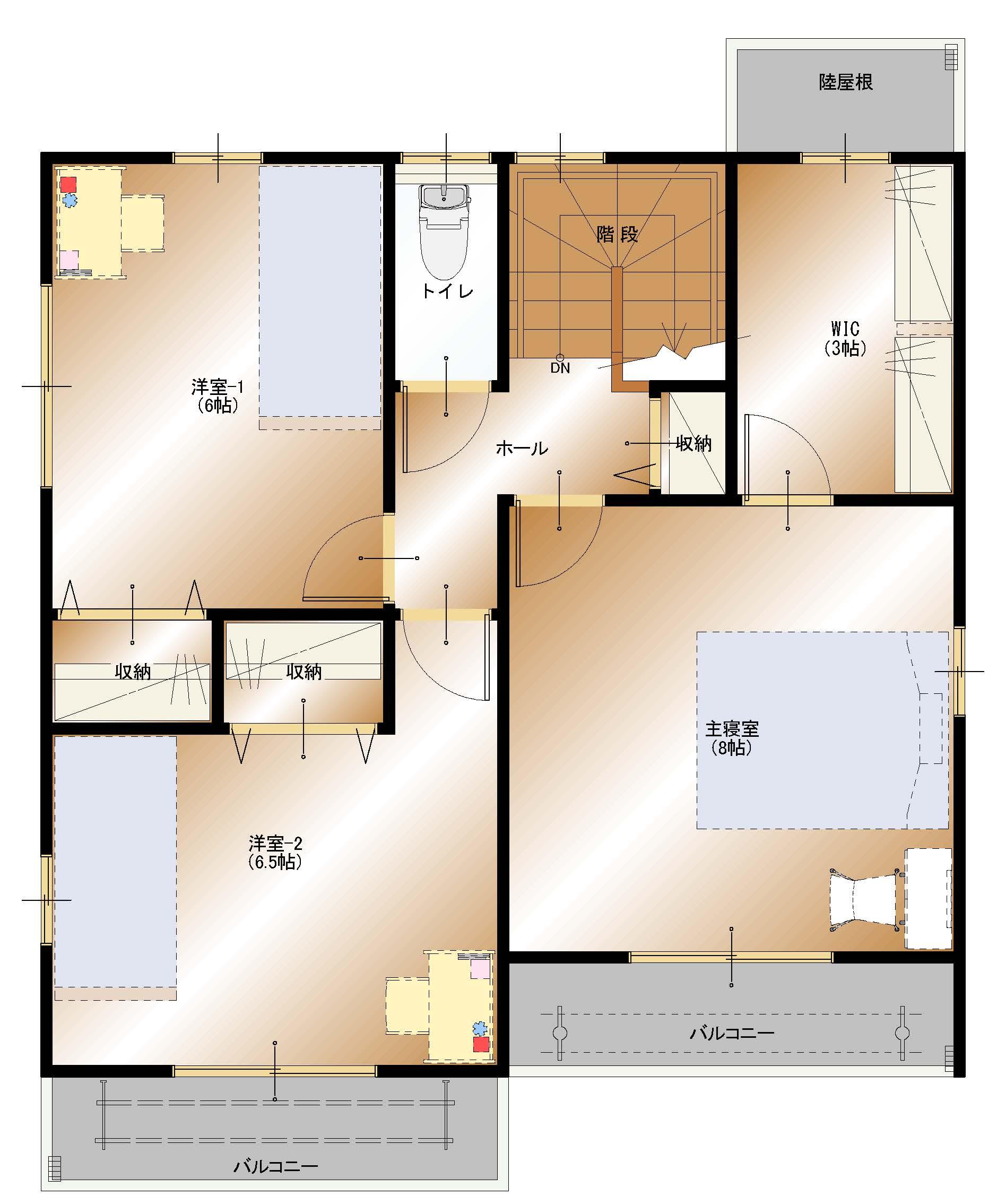 上今井町B23号棟建売住宅【2F平面図】