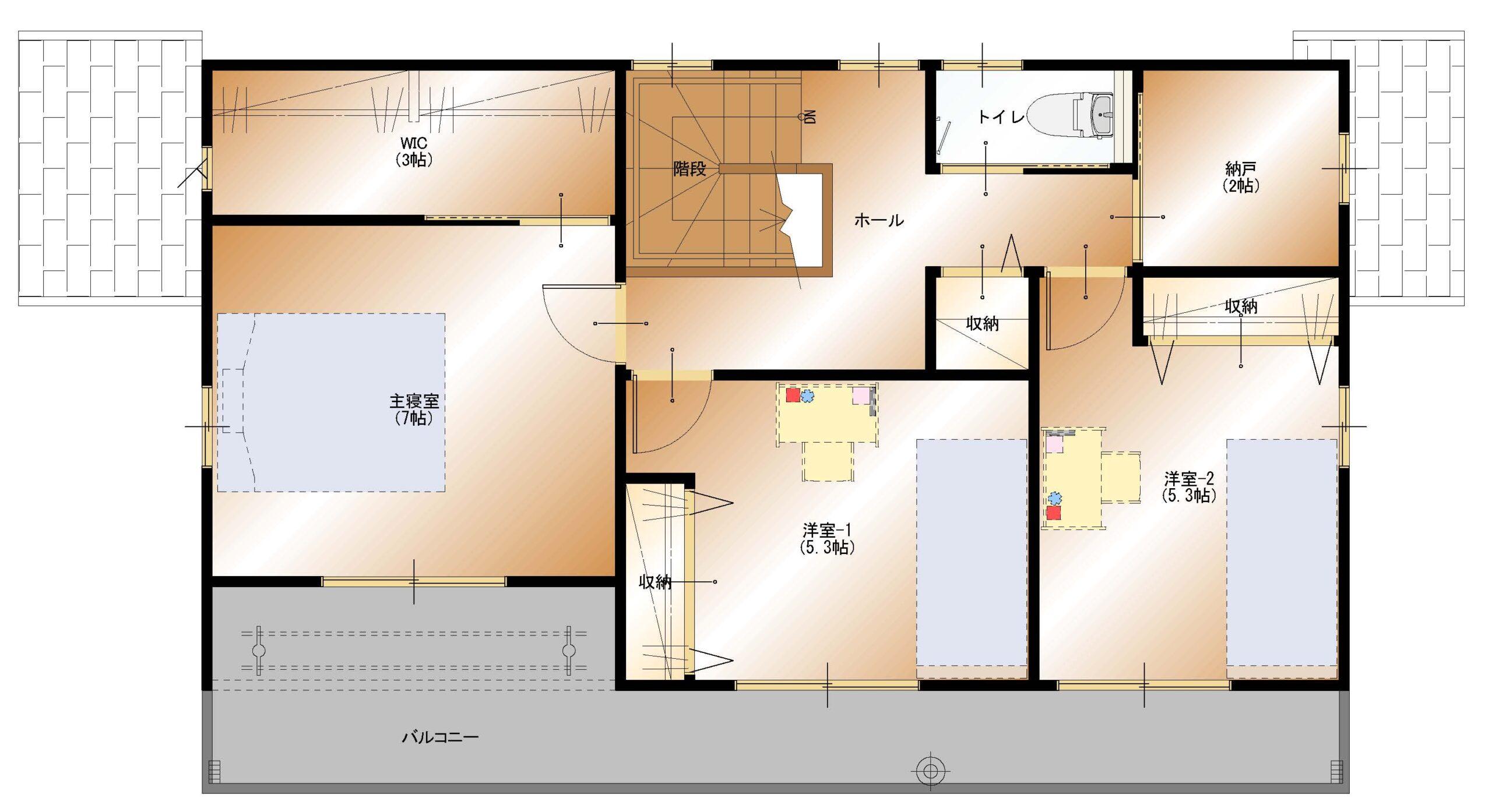加賀美J-3号棟建売 2F平面図