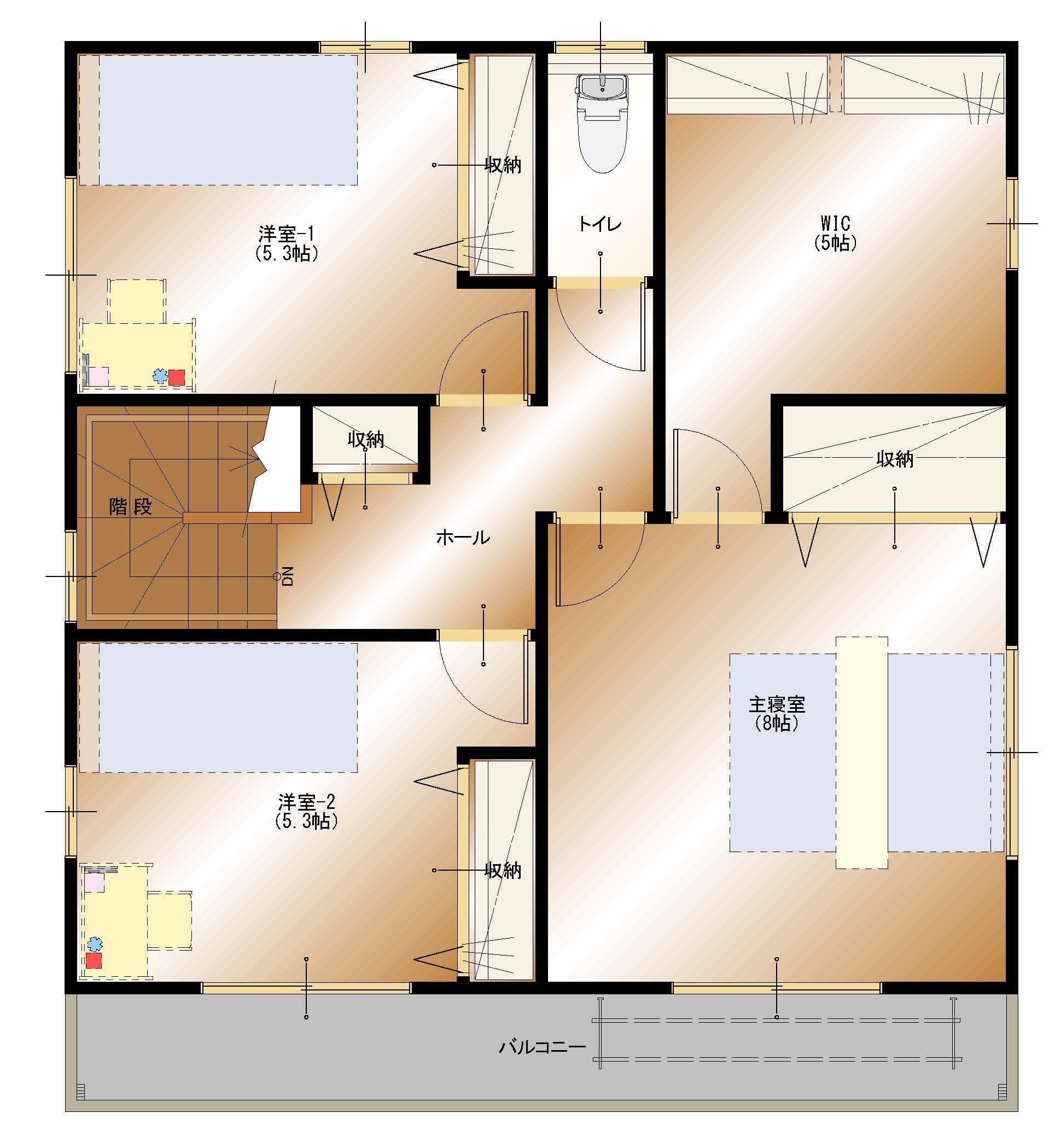 加賀美J4号棟 2F平面図
