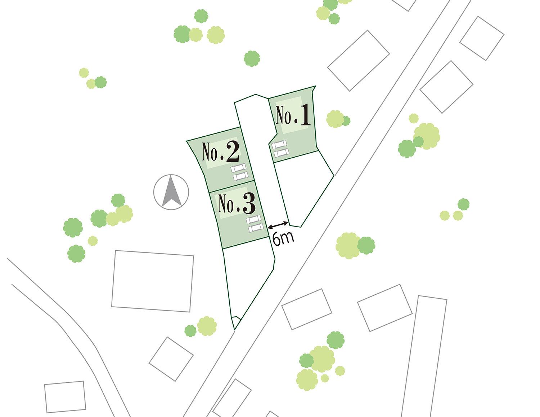 山梨 不動産 土地 昭和町押越 分譲地 区画図