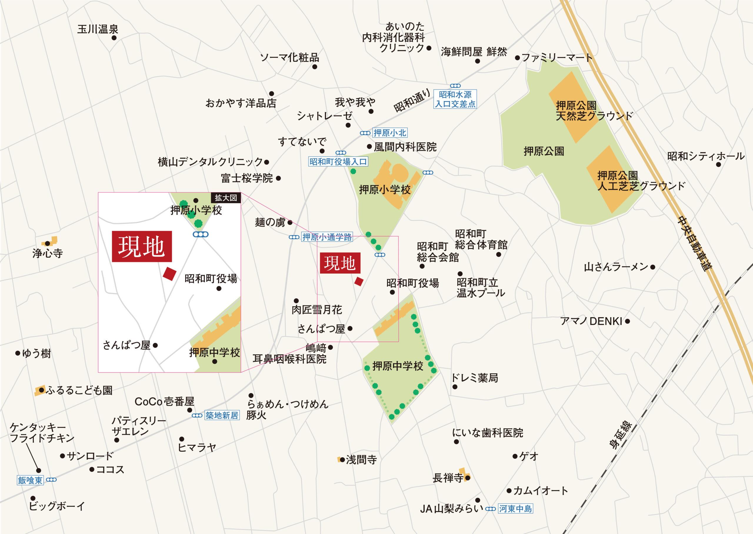 昭和町押越_地図