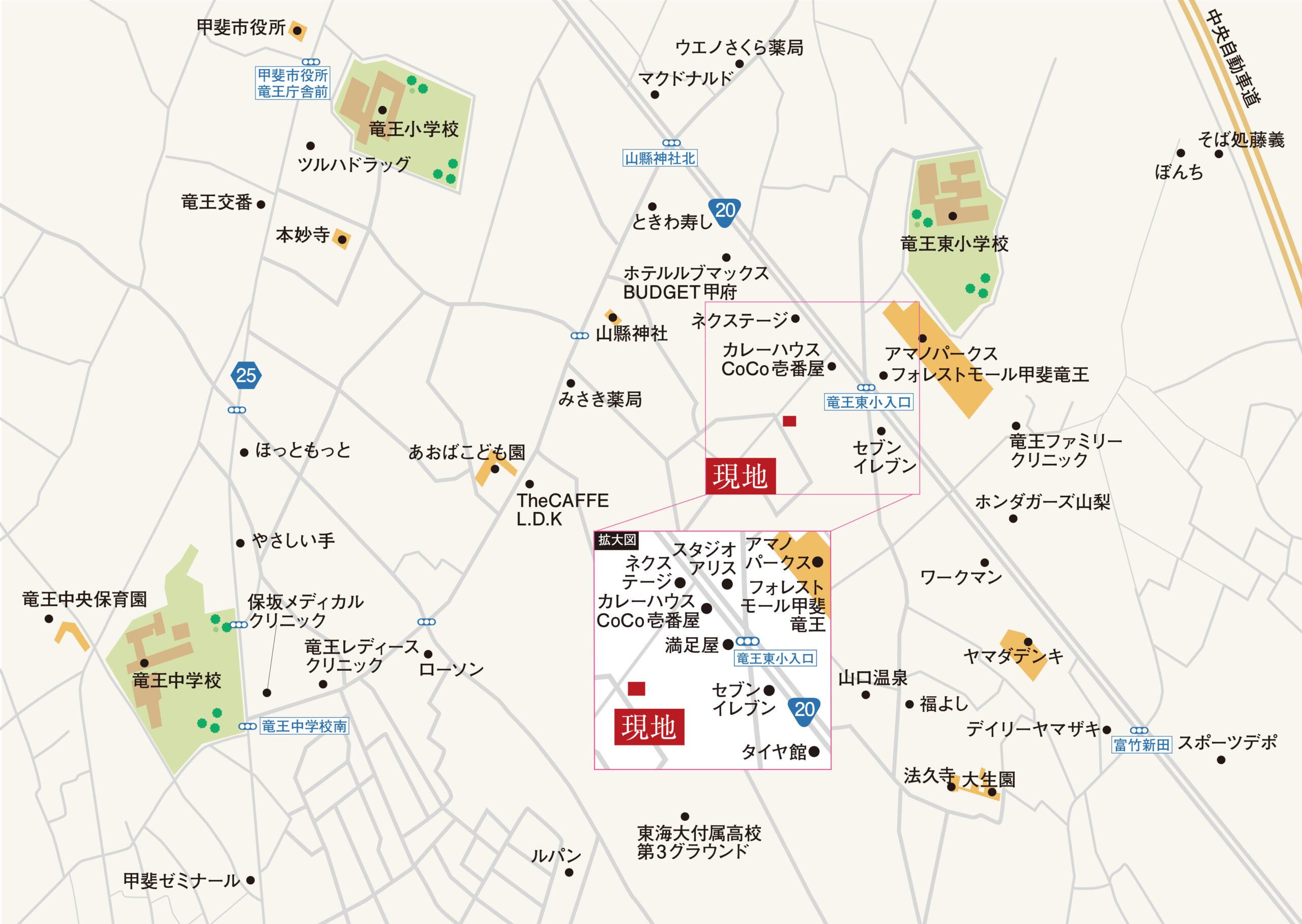 甲斐市富竹新田F_地図