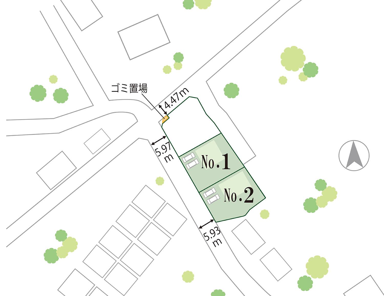 富竹新田F 区画図
