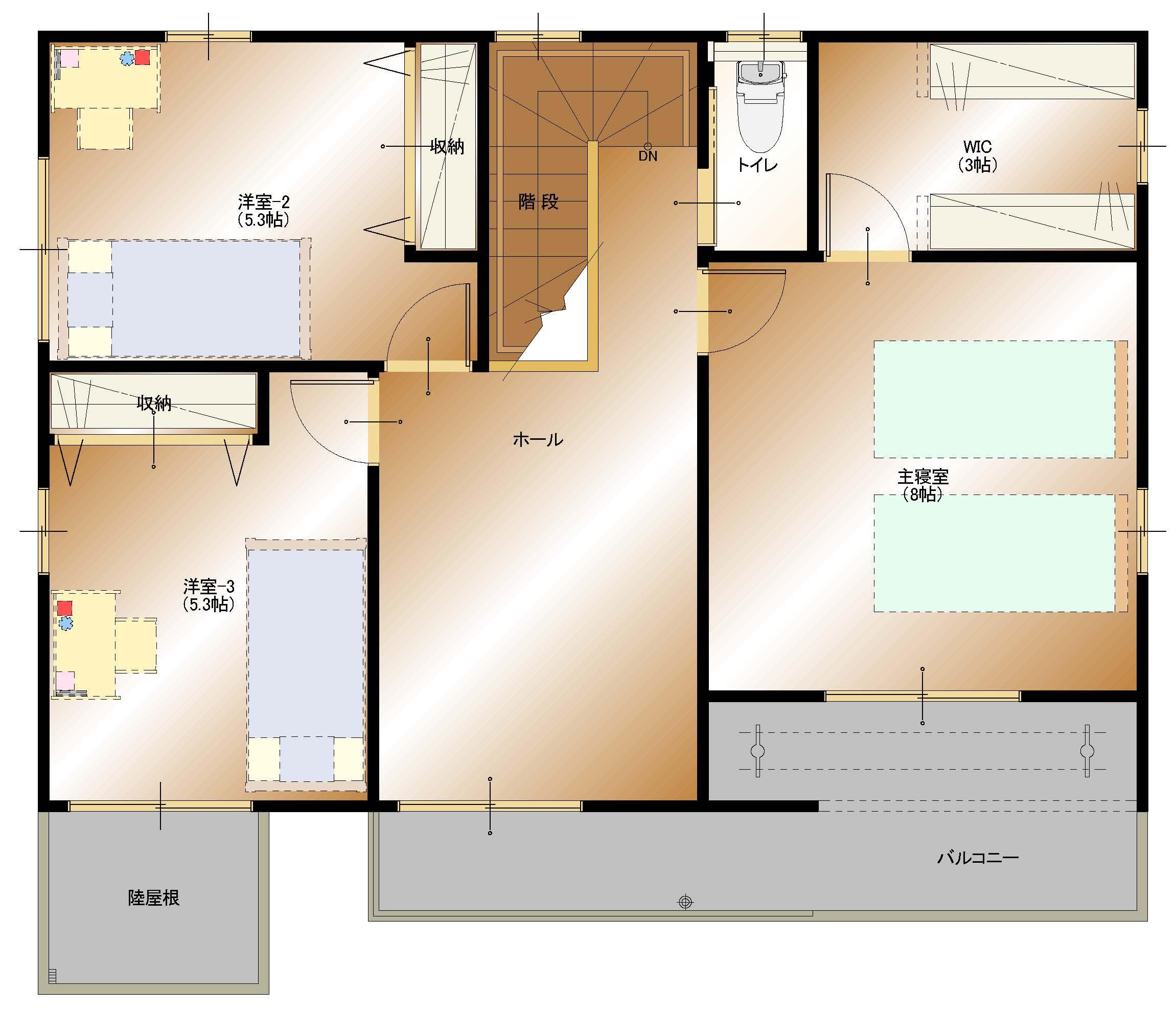 龍地B14号棟建売【2F平面図】
