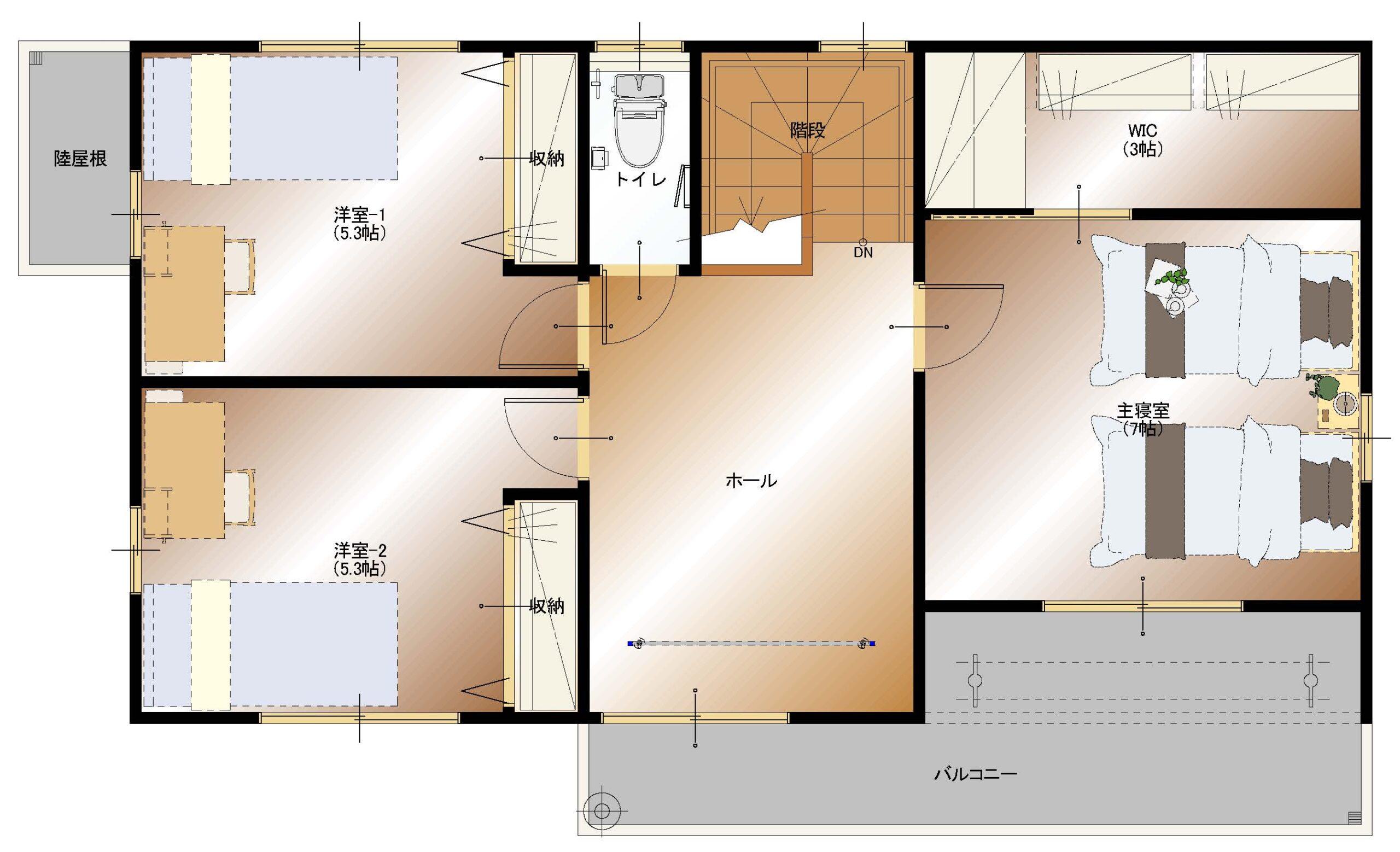 下今井E19棟建売住宅(2F平面図