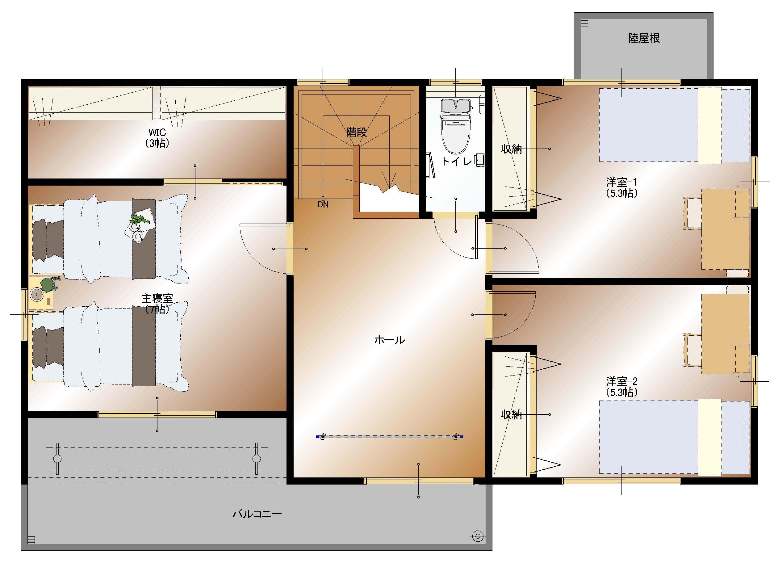 加賀美I1号棟(2F平面図)