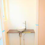 玄関前の手洗い場