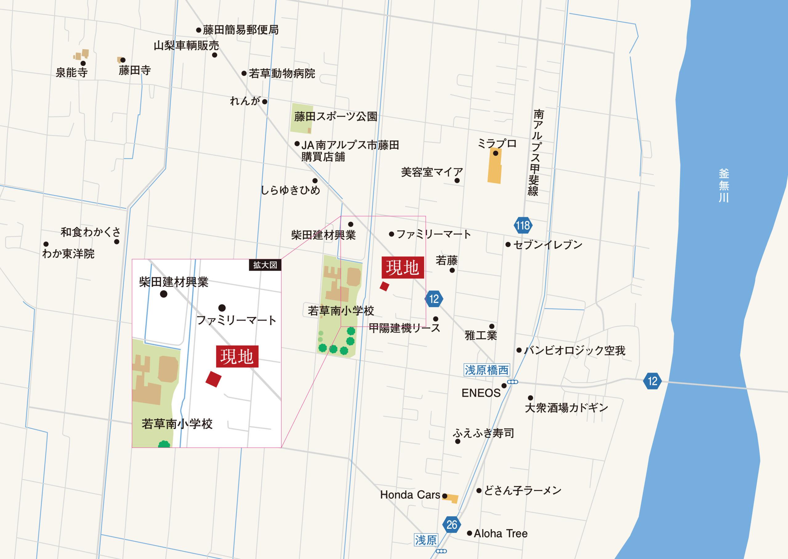 南アルプス市藤田N-5号棟 地図