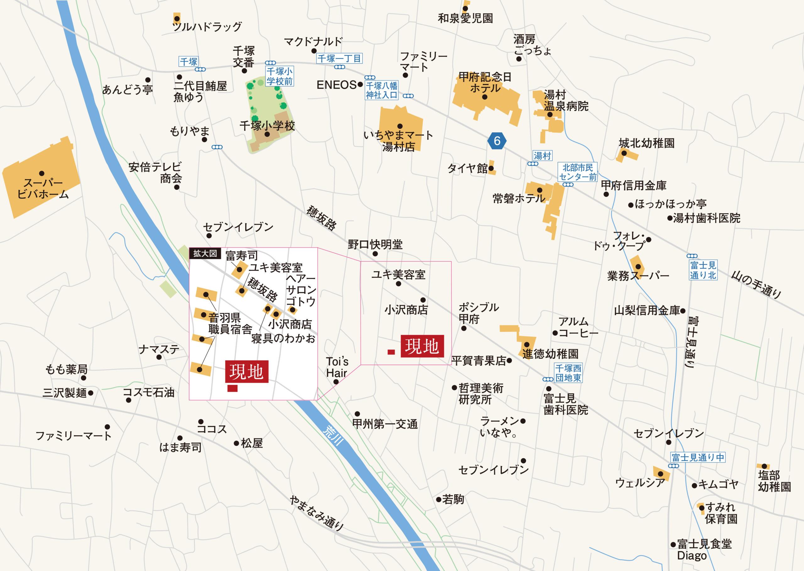 甲府市富士見A 地図
