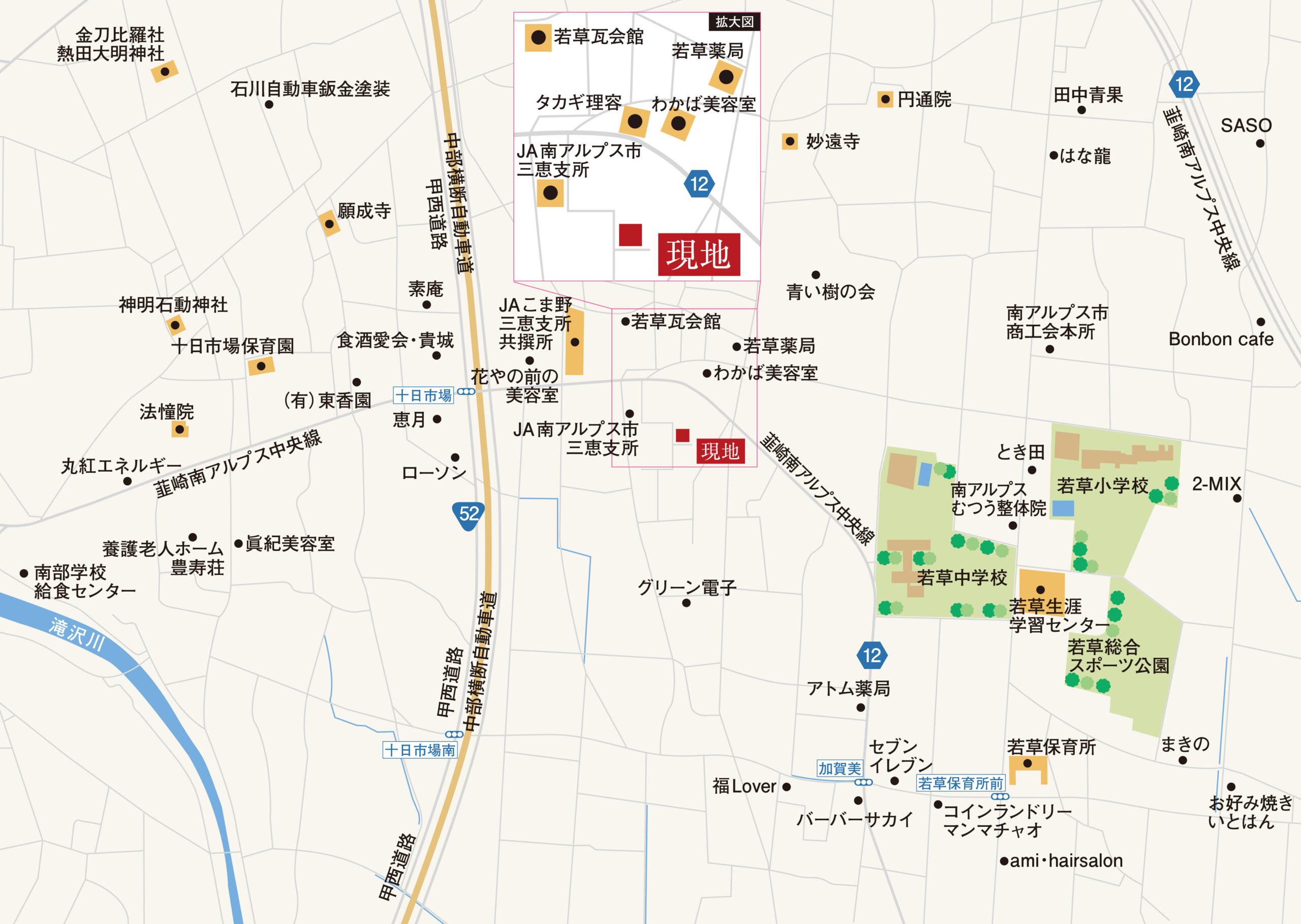 南アルプス市加賀美J-3号棟 地図