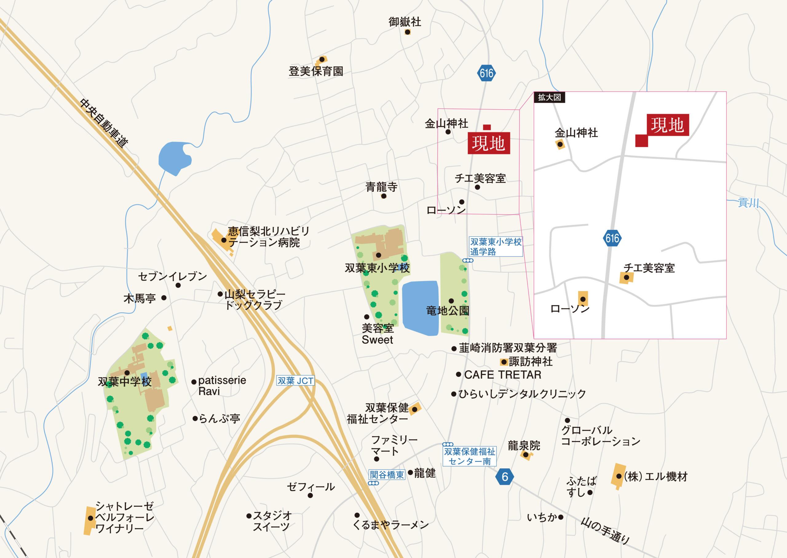 甲斐市大垈D 地図