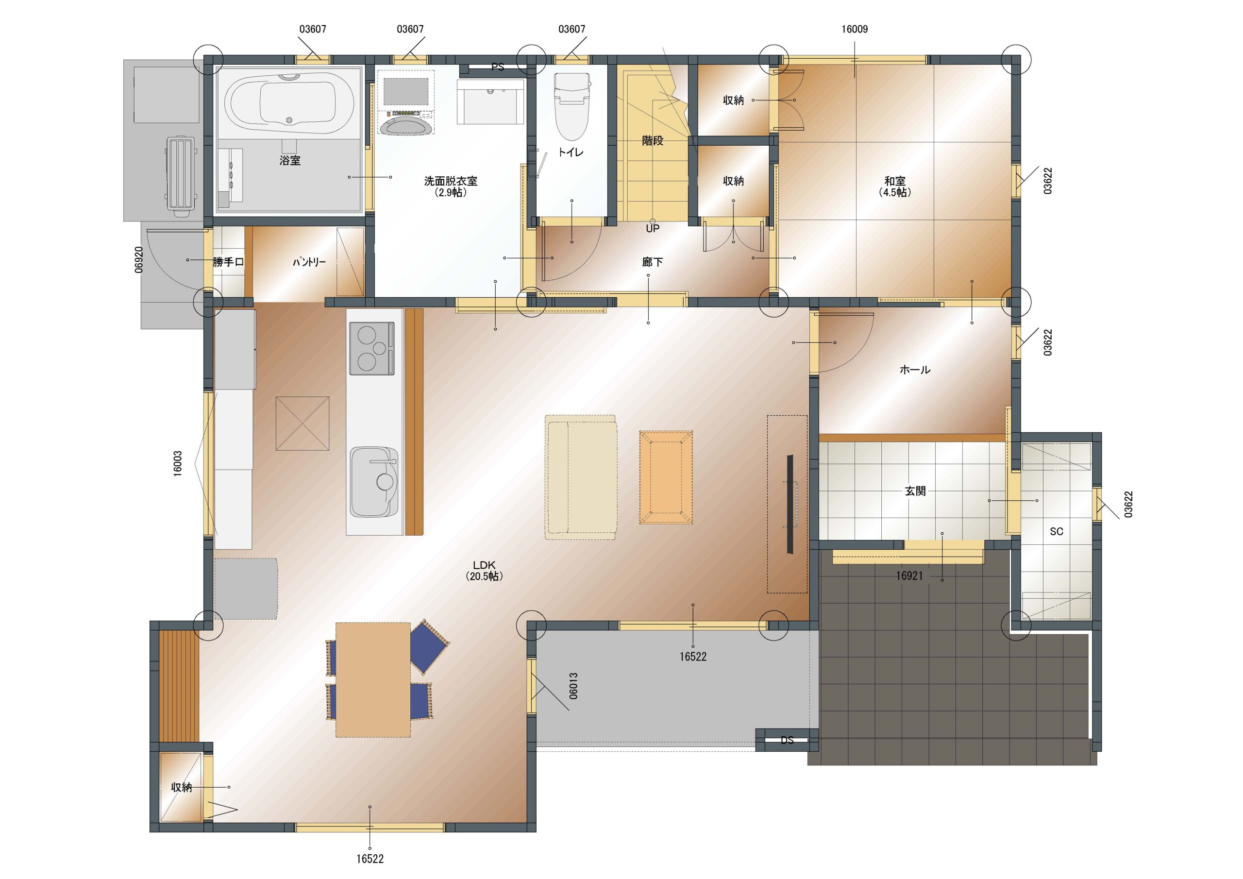 飯喰B-4 1階平面図