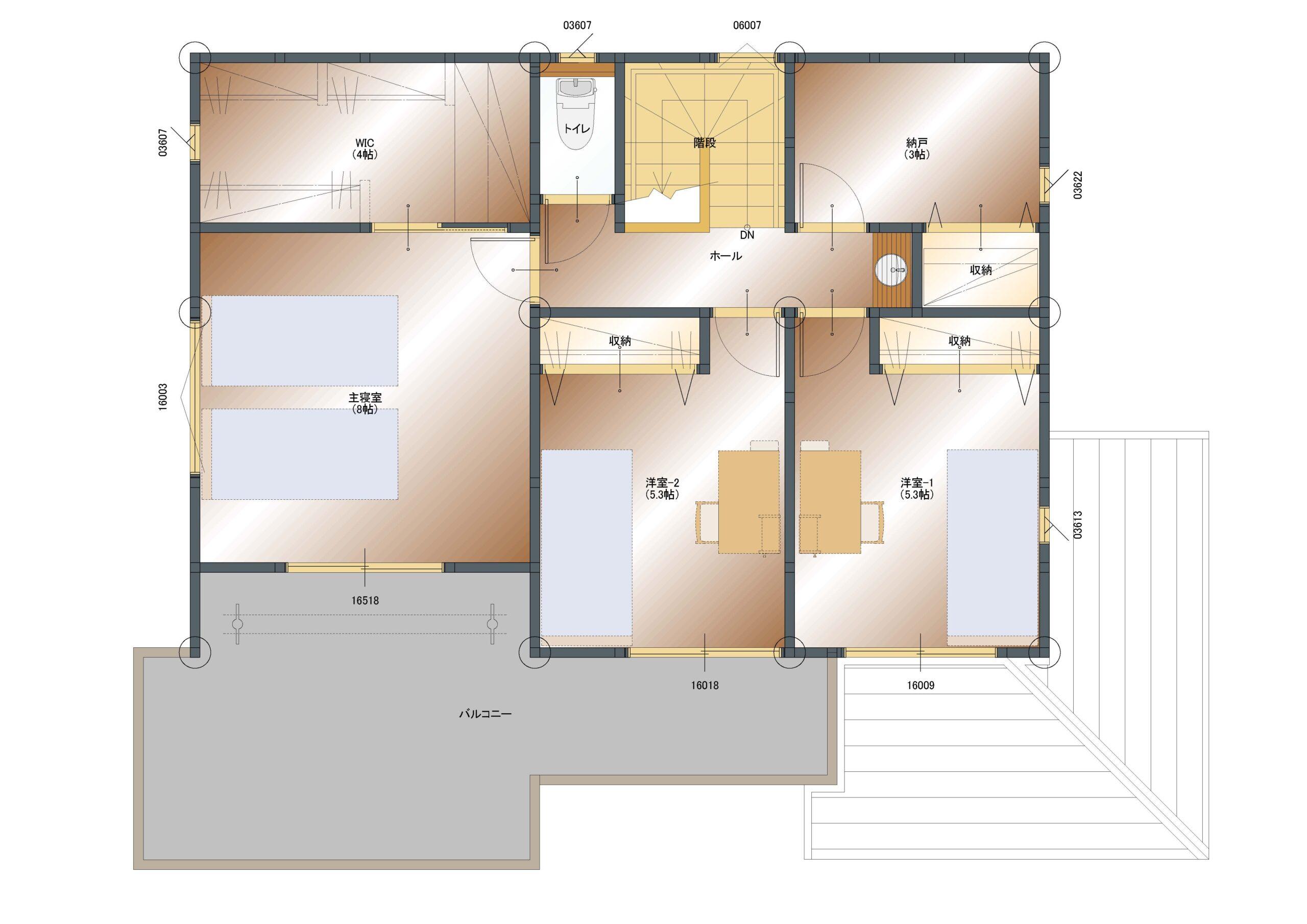 飯喰B-4 2階平面図