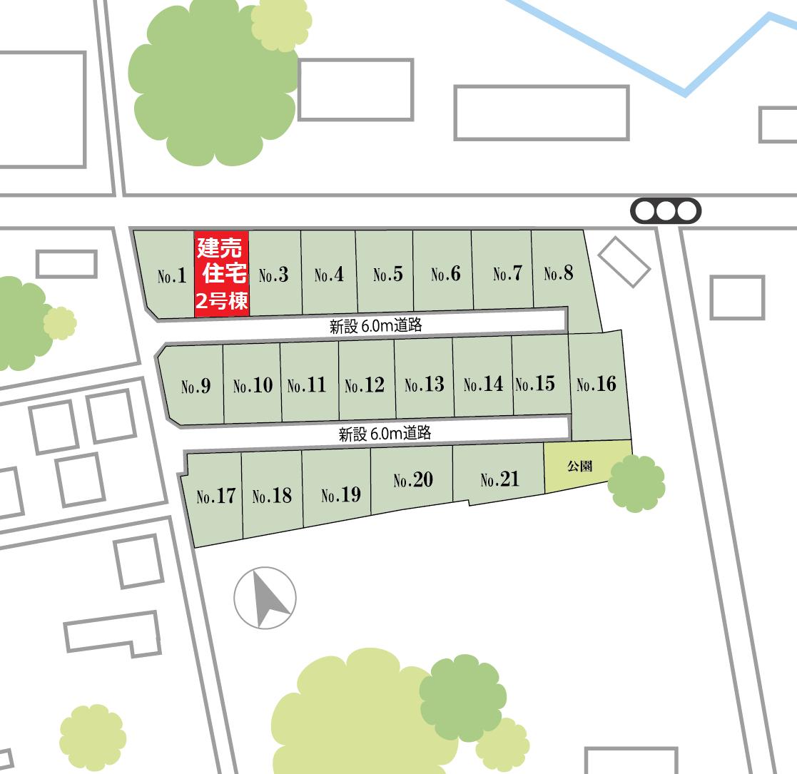 増坪 区画図(2号棟)